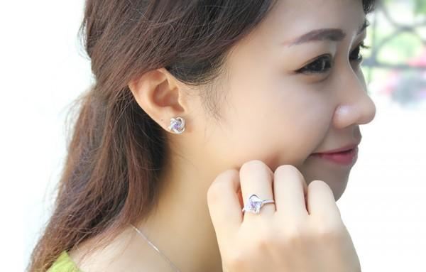 bộ trang sức bạc cao cấp hotigon - Bảo ngọc jewelry