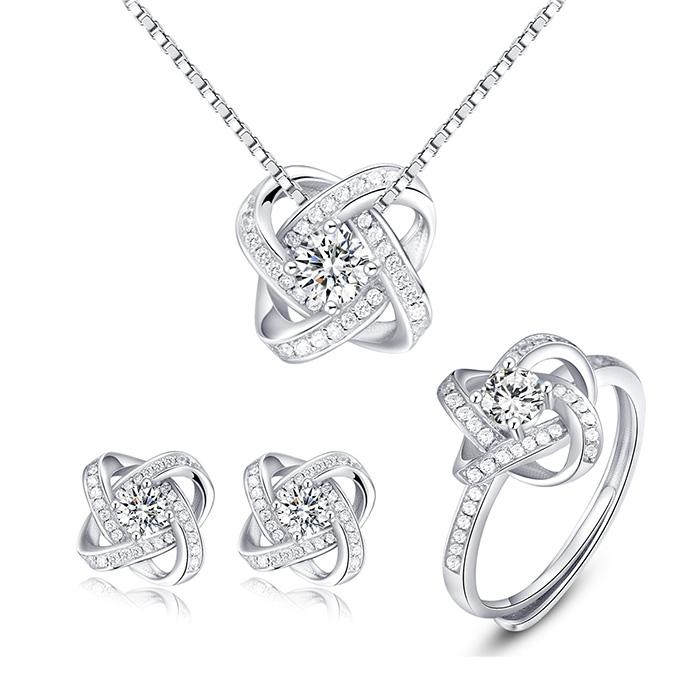 Bộ trang sức bạc hoa tigon cao cấp của bảo ngọc jewelry