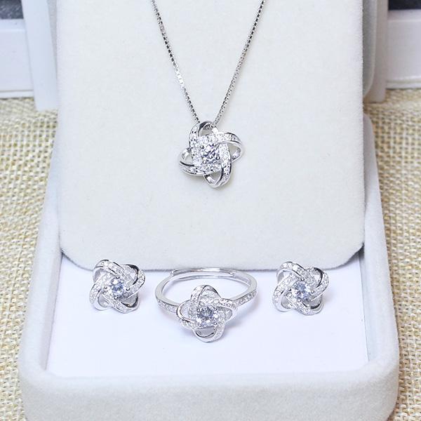 Bộ trang sức bạc Hoa Tigon cao cấp