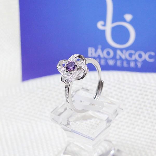 Nhẫn bạc nữ - Bộ trang sức hoa tigon cao cấp