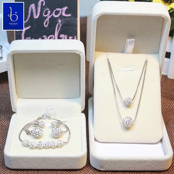 bộ trang sức bạc cao cấp Hàn Quốc