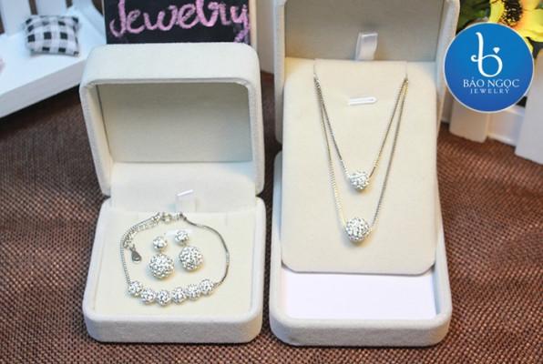 trang sức bạc hàn quốc - Bộ trang sức bạc hàn quốc