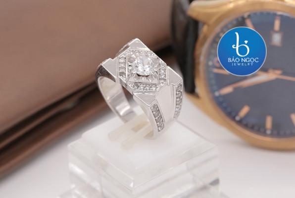 nhẫn bạc nam xi vàng trắng độc đáo, nhẫn bạc nam