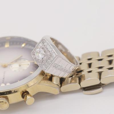 nhẫn bạc nam xi vàng trắng