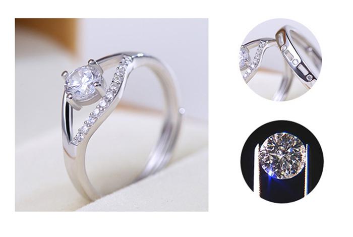 Nhẫn đôi bạc đẹp cao cấp ND-6904